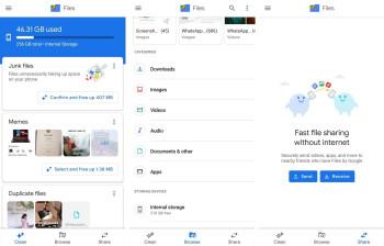 برنامه مدیریت فایل گوگل