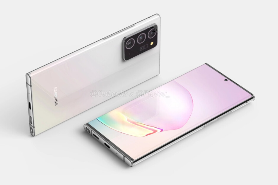 Leaked factory CAD-based renders of the Galaxy Note 20+, aka Note 20 Ultra - Samsung's 'standard' Galaxy Note 20 5G may end up cutting one too many display corners