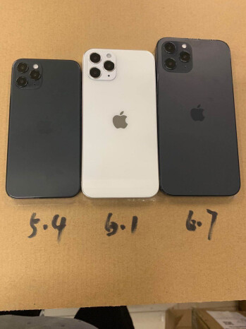 Apple iPhone 12 series dummy models tweeted by Sonny Dickson - Dummy units reveal the three different 5G Apple iPhone 12 screen sizes