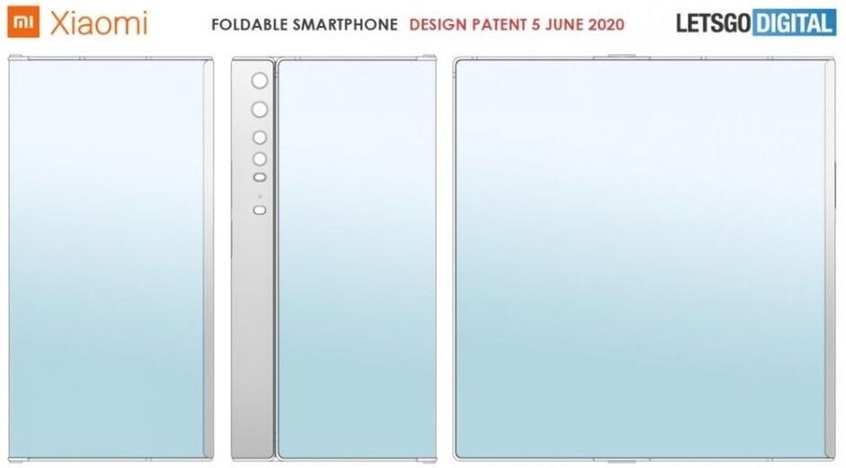 La última patente de teléfono plegable de Xiaomi sugiere un diseño tipo Mate X. - Los próximos teléfonos plegables de Huawei y Xiaomi usarán vidrio ultrafino
