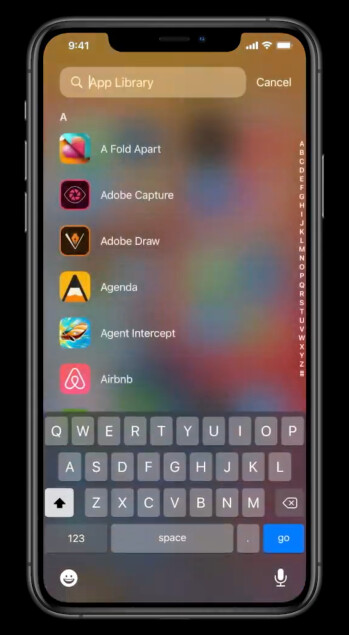 Searching through App Library - Apple just announced... an app drawer and widgets for iOS 14!
