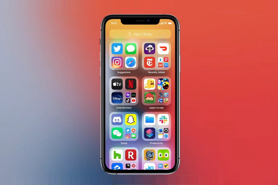 App Library in iOS 14 - iOS 14 is official – All the new features