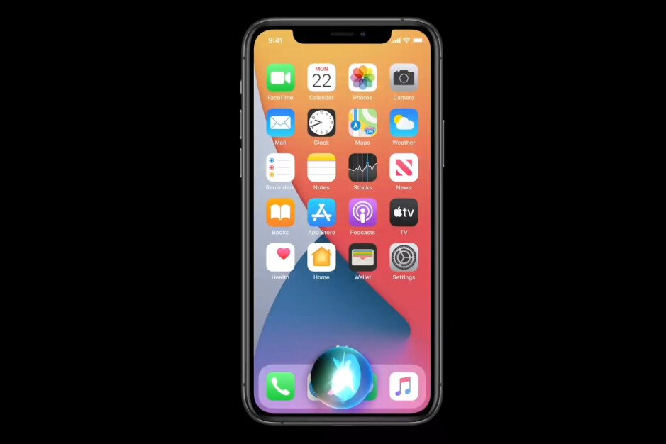 The new compact design of Siri in iOS 14 - iOS 14 is official – All the new features