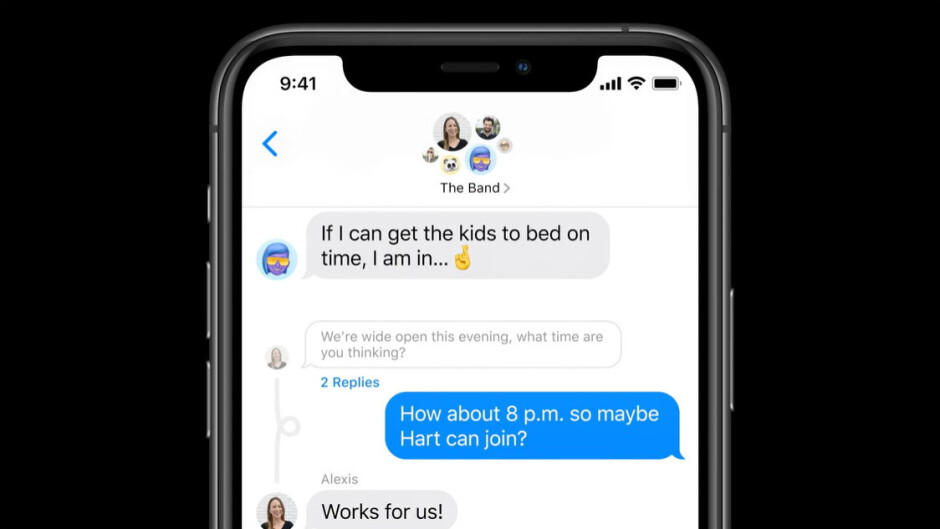 Messages in iOS 14 gets inline responses - Messages in iOS 14 gets mentions in group chats, pinned conversations