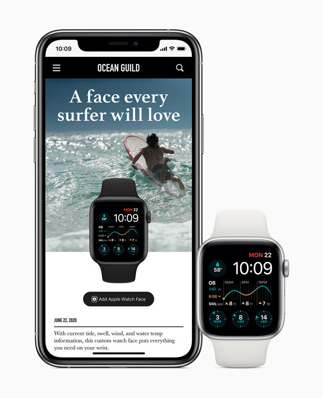 customized watch faces can now be downloaded and shared - watchOS 7 brings richer watch faces, sleep tracking, new workouts, handwash detection, and more