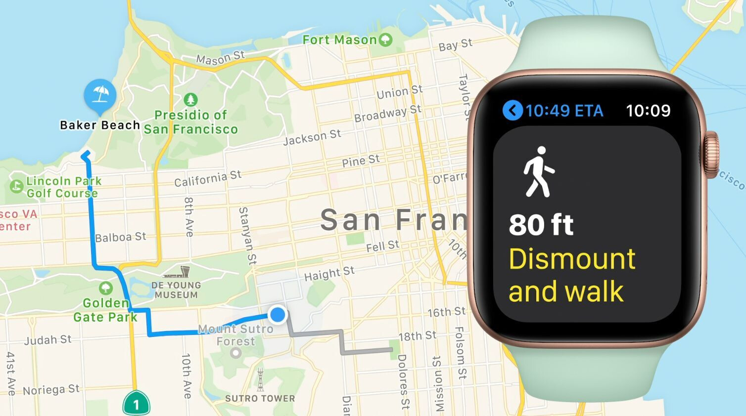cycling directions will also be displayed - watchOS 7 brings richer watch faces, sleep tracking, new workouts, handwash detection, and more