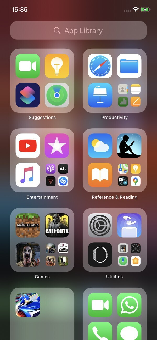 App Library in action - Apple iOS 14 Review: Hands-on with all the new features