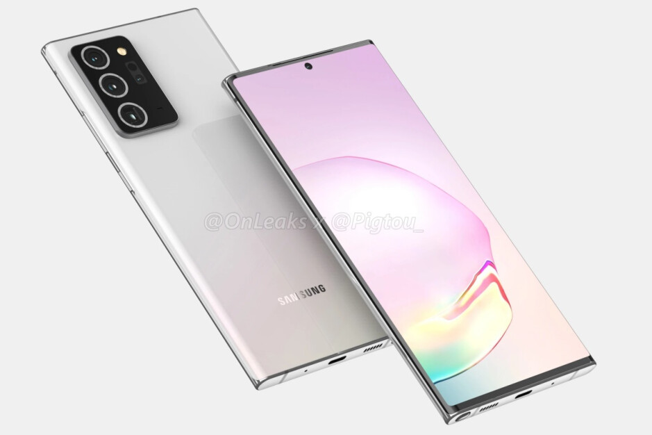 Leaked renders of the Note 20+, aka Note 20 Ultra - Samsung's ambitious 5G flagship schedule for this fall may have been fully revealed
