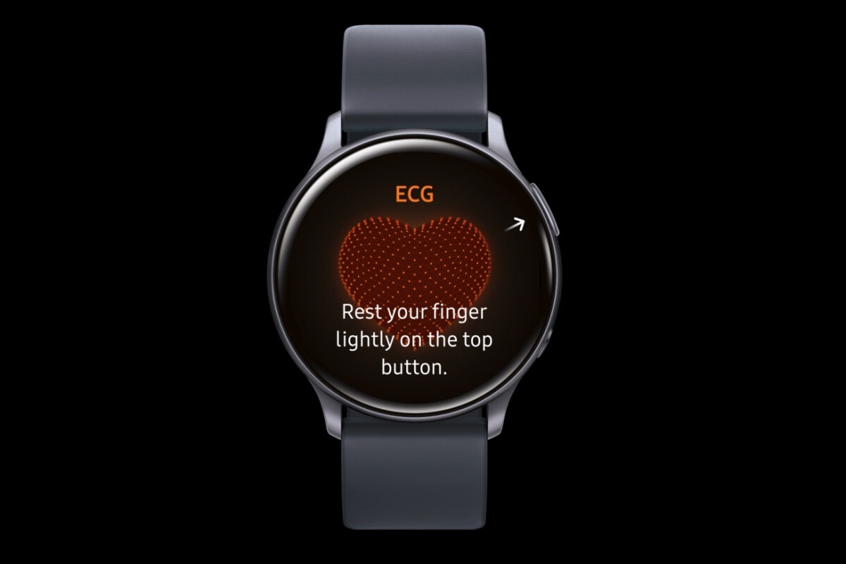 The ECG monitor is still technically disabled on the Galaxy Watch Active 2 - Leaked high-quality render does the beautiful Samsung Galaxy Watch 3 justice