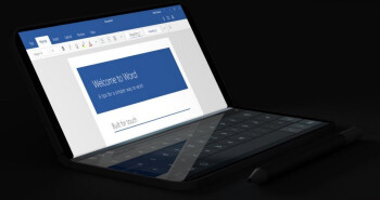 Laptop mode on the Surface Duo could look like this render - Rumored Surface Duo feature will save time when mulitasking