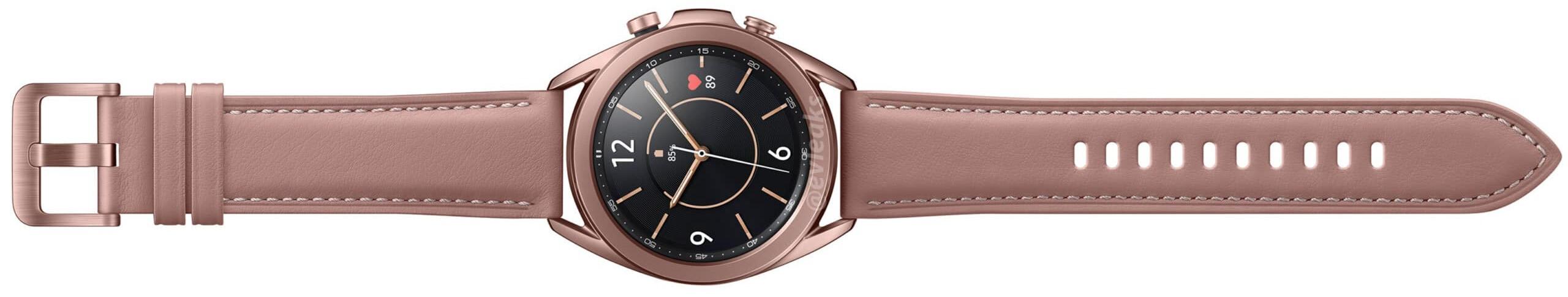 The 41mm Samsung Galaxy Watch 3 in bronze - Samsung Galaxy Watch 3 leaks in Titanium Black, tips the Unpacked 2020 date