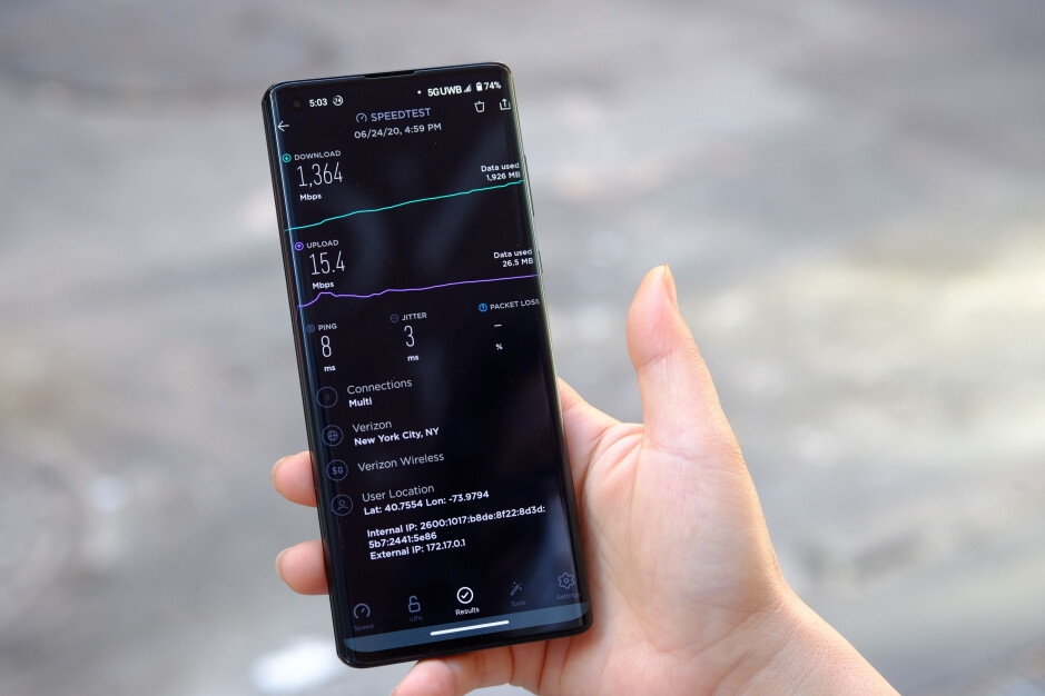 Our second testing site offered significantly faster speeds, as well as better latency and stability - Testing Verizon's 5G network in New York City: here are the top speeds we found