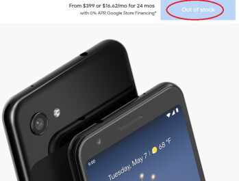 The Google Pixel 3a is now out of stock at the Google Store - Google discontinues Pixel 3a series as everyone awaits the introduction of the Pixel 4a