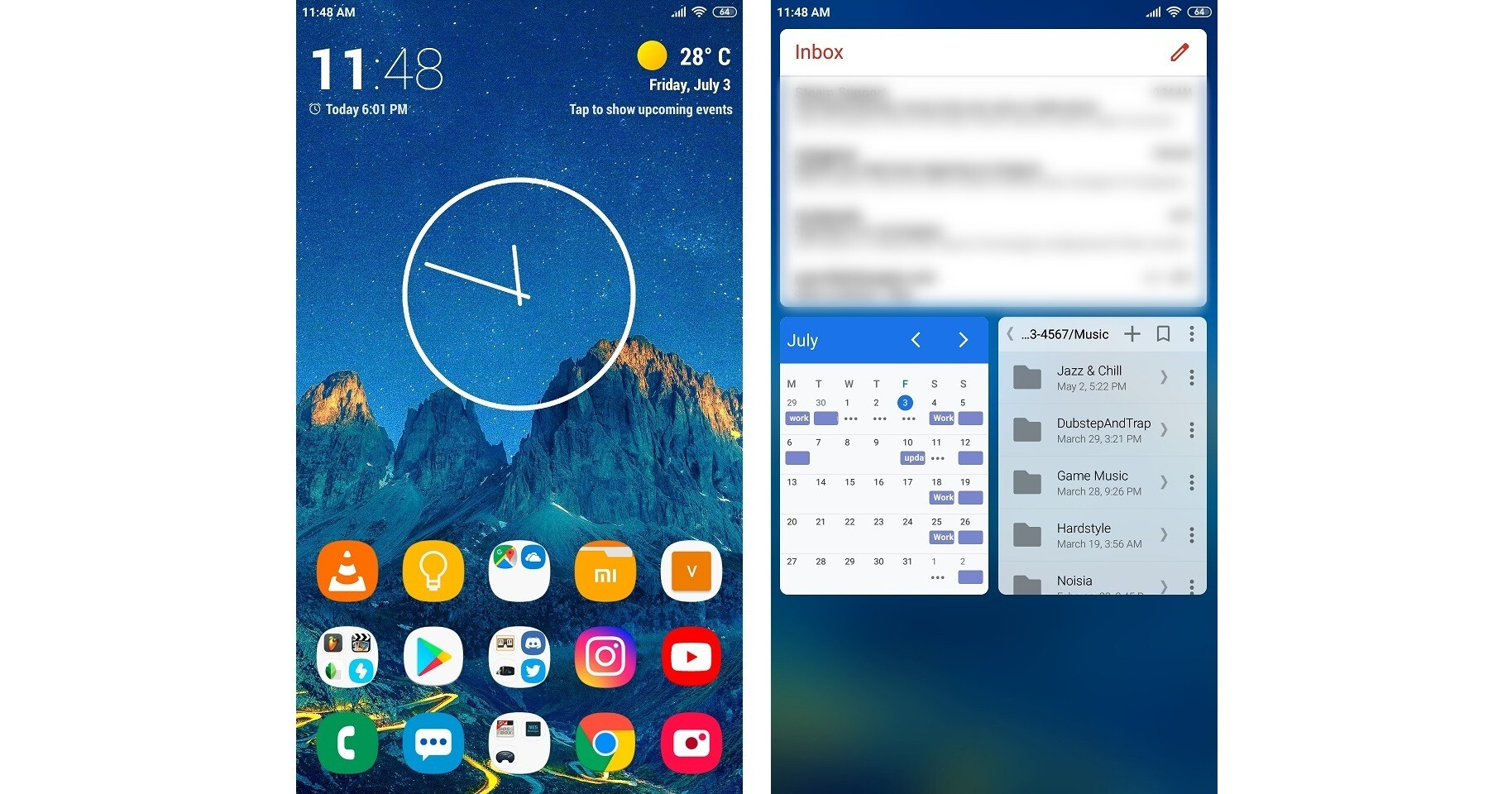 My current, and most conservative home screen yet. A swipe to the left shows my widgets. - Android VS iPhone power users – here's why we made our choice