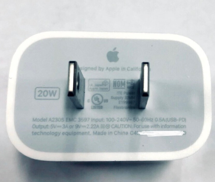 This is the legitimate 20W Apple charger that will not be found inside the box of any 2020 iPhone model - Apple tries to get users ready to accept the lack of a charger in the 5G iPhone 12 boxes