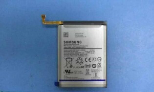 supposed image of Samsung's upcoming midranger's battery - This could be the first Samsung Galaxy smartphone to pack a 6,800mAh battery