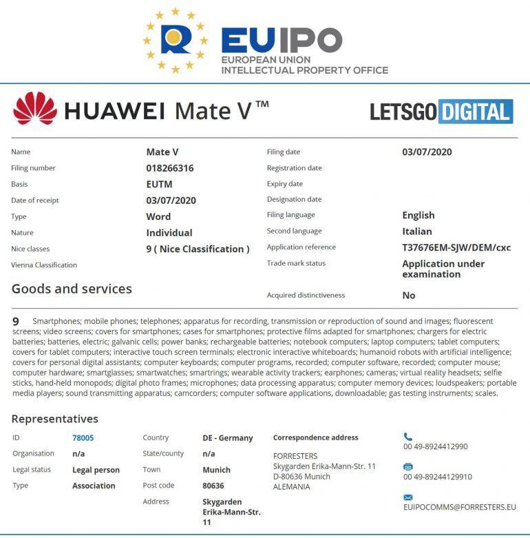 El próximo folleto de Huawei podría llamarse Mate V