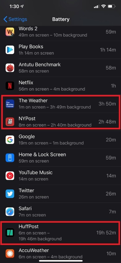 Some apps are consuming large amounts of battery power in the background after recent iOS updates - Recent iOS updates have a nasty side effect
