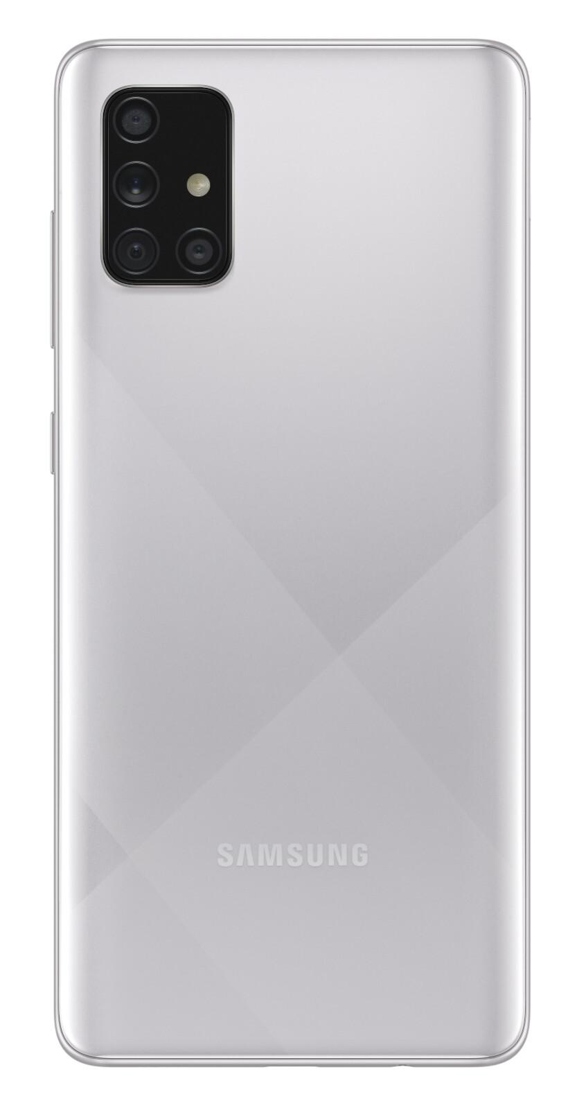 Samsung Galaxy A71 in Haze Crush Silver - Samsung Galaxy A51 and A71 now available in Haze Crush Silver color