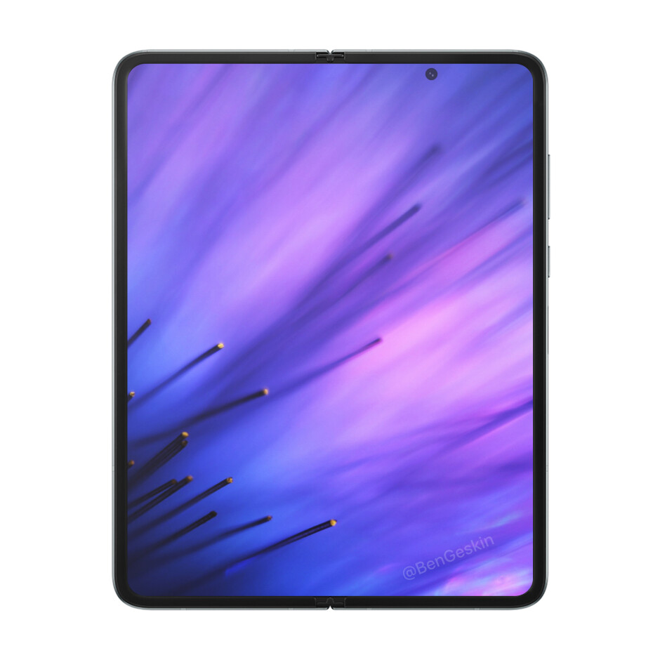Samsung Galaxy Z Fold 2 concept renders by Ben Geskin - Juicy Galaxy Z Fold 2 specs leak lists 120Hz display, five cameras, 5G, more