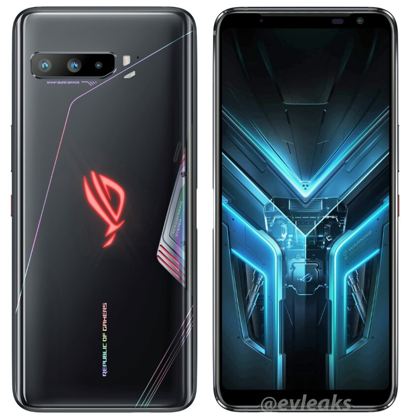 Press render of the Asus ROG Phone 3 - It's a gaming phone and a 5G powerhouse; press render of the Asus ROG Phone 3 surfaces