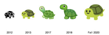 The Android 11 emojis will include a return to the 2013 Turtle... - Apple previews some of the new emoji coming to iOS 14