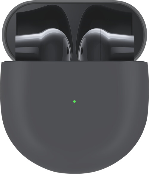 OnePlus Buds and charging case in black - OnePlus 8 update reveals the design of the OnePlus Buds