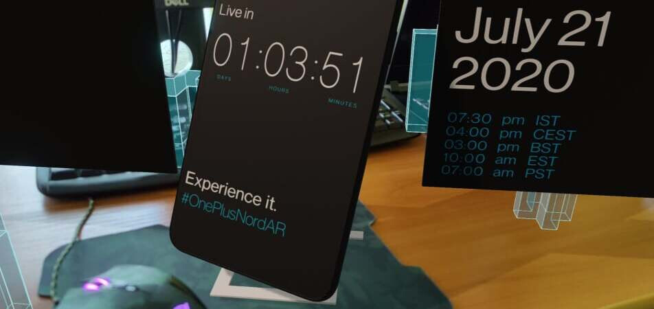 The OnePlus Nord AR app - When and how to watch the OnePlus Nord event live stream