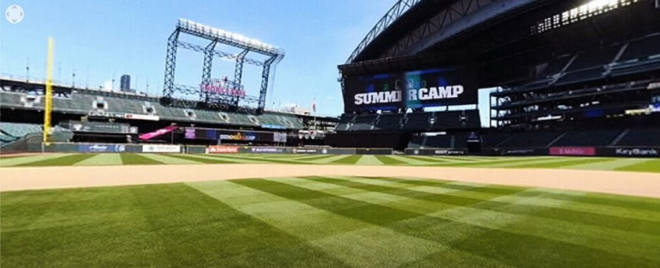 Another virtual view of T-Mobile Park - T-Mobile puts you right on the field (virtually) for MLB's Summer Camp