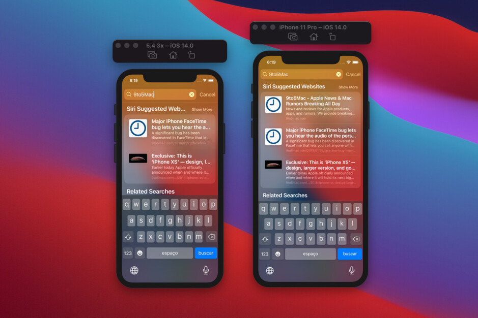 """Apple iPhone 12 display scaling - Apple scales the iOS 14 interface for the new 5.4"""" iPhone 12 5G resolution"""