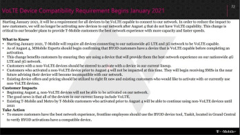 T-Mobile's internal memo about VoLTE leaks - Some phones will stop working on T-Mobile's 4G and 5G networks by next January