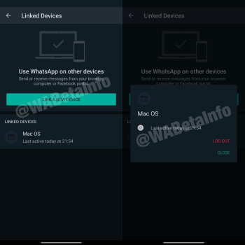 WhatsApp Linked Devices UI - WhatsApp upcoming feature lets you use the same account on multiple devices