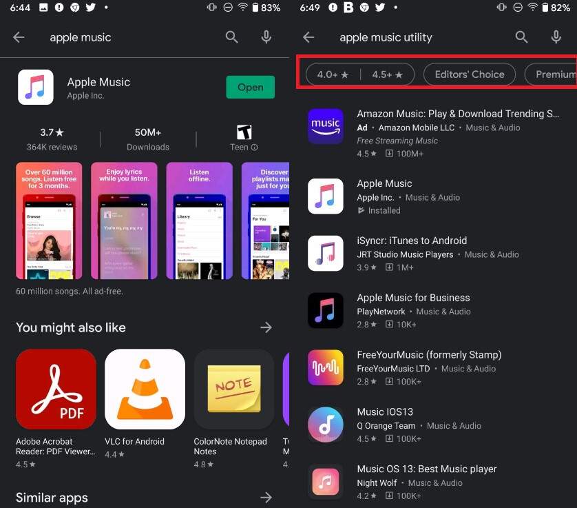 Apps with brand names don't show the filter unless the world utility is added to it - Check your Android phone to see if this useful Google Play Store feature has arrived