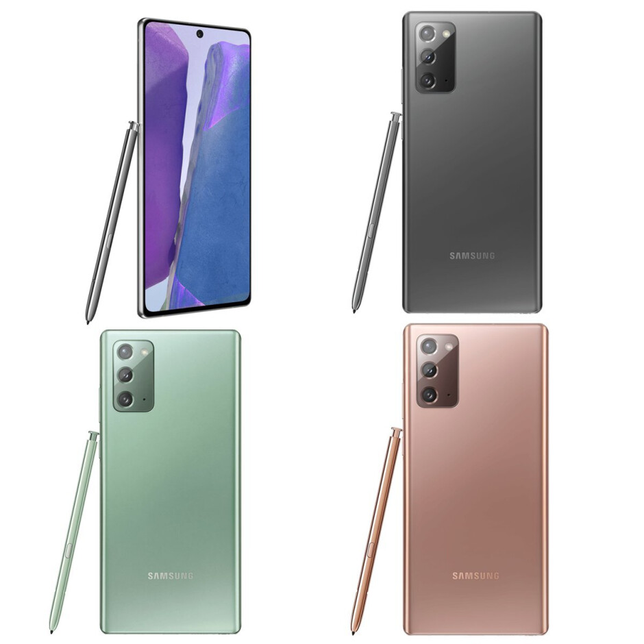 Samsung Galaxy Note 20 in Mystic Black, Mystic Bronze, and Mystic Green - The Galaxy Note 20 & Note 20 Ultra 5G could be very expensive