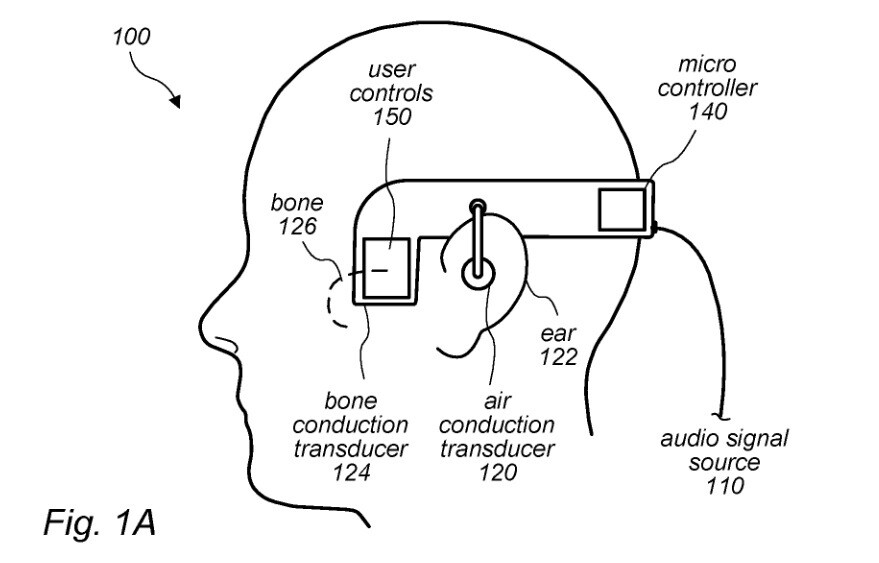 Illustration from Apple's new patent - New Apple patent could result in the use of bone conduction to deliver audio on the next AirPods