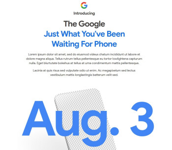 Google reveals the news. The Pixel 4a will be unveiled on August 3rd - Google Pixel 4a to be introduced this comng Monday, August 3rd