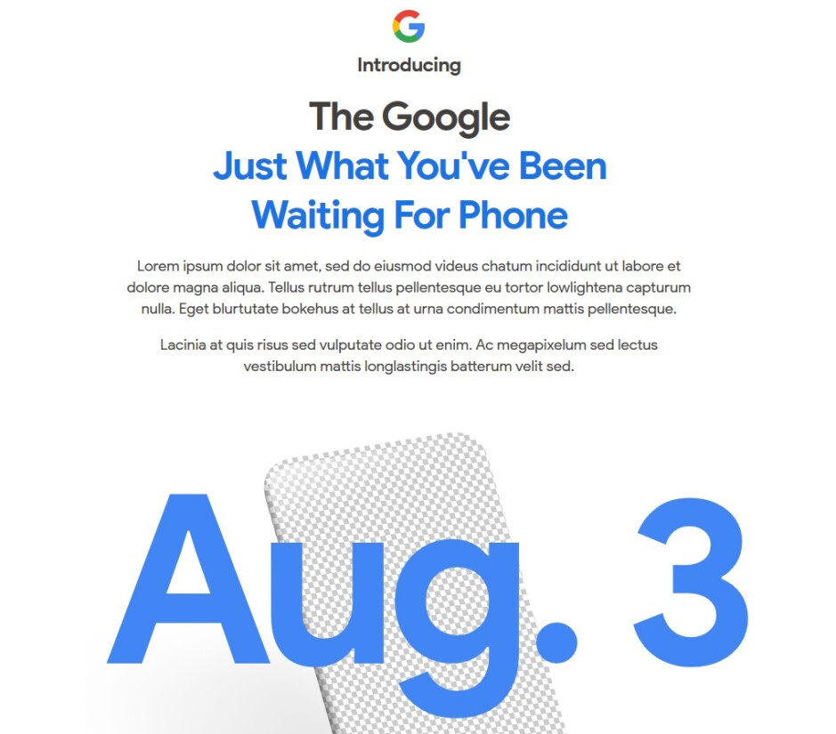 Google reveals the news. The Pixel 4a will be unveiled on August 3rd - Google Pixel 4a to be introduced this coming Monday, August 3rd