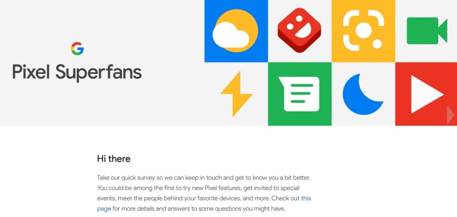 Watch your email for an invitation to join the Pixel Superfan club - Learn about Google's secret Pixel Superfan club