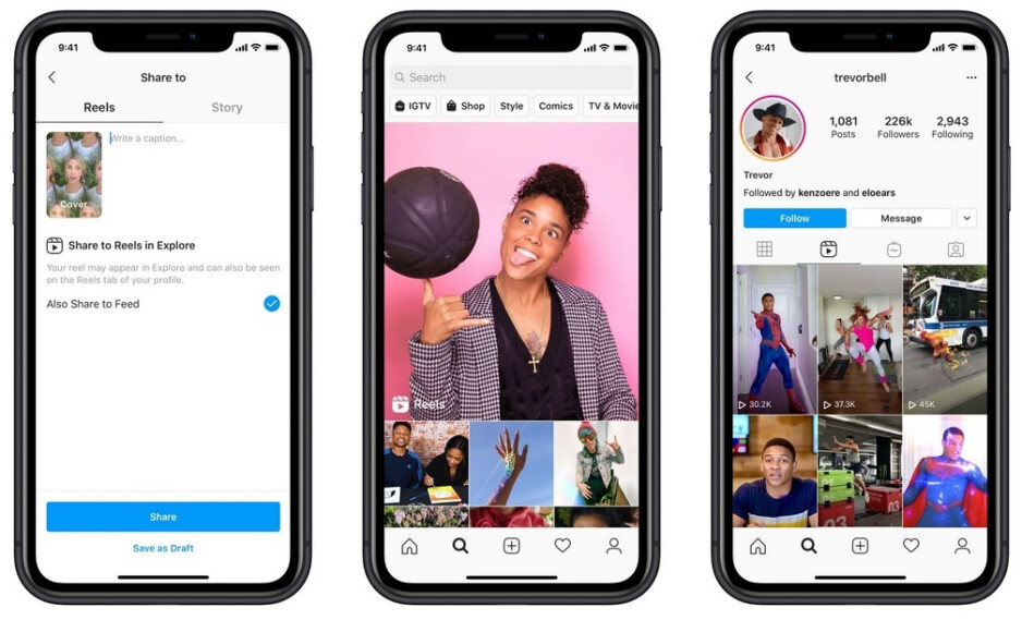 Reels is Instagram's short-form video feature - Instagram launches Reels, a replacement for TikTok