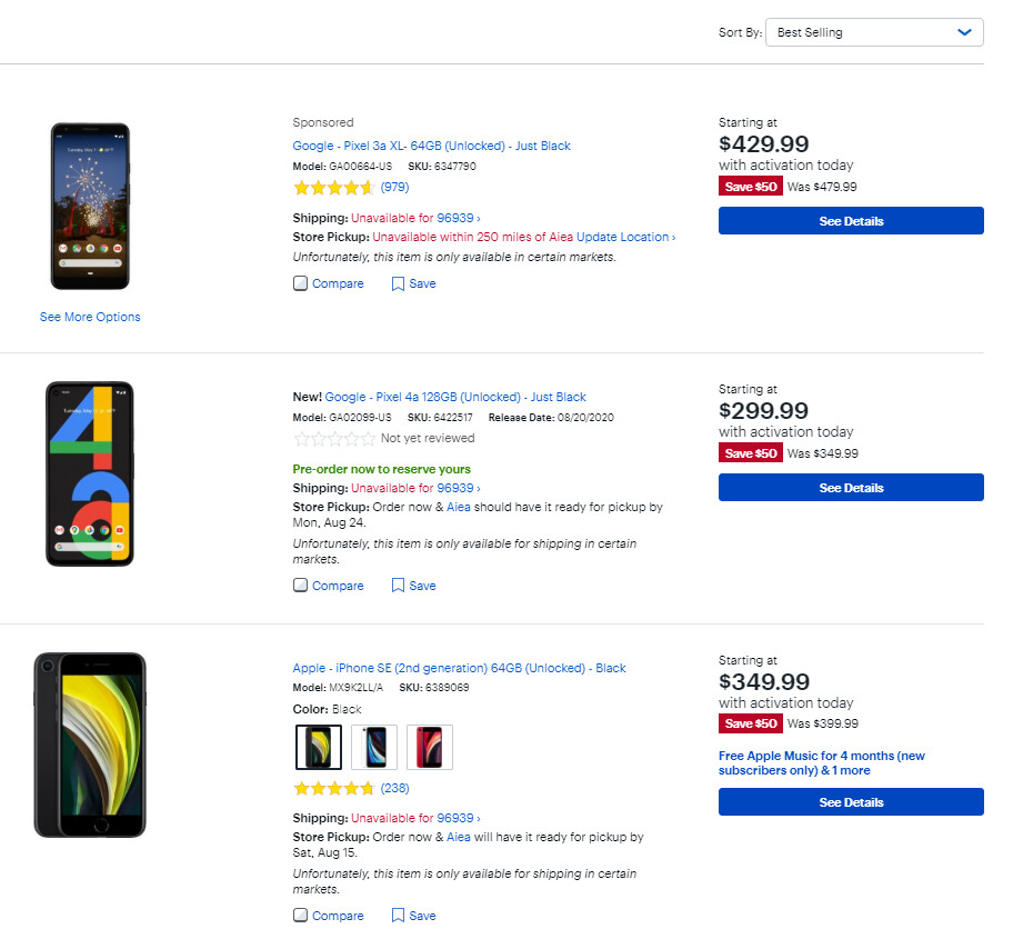 Google Pixel 4a is currently Best Buy's top selling unlocked smartphone - Google Pixel 4a preorders already selling out