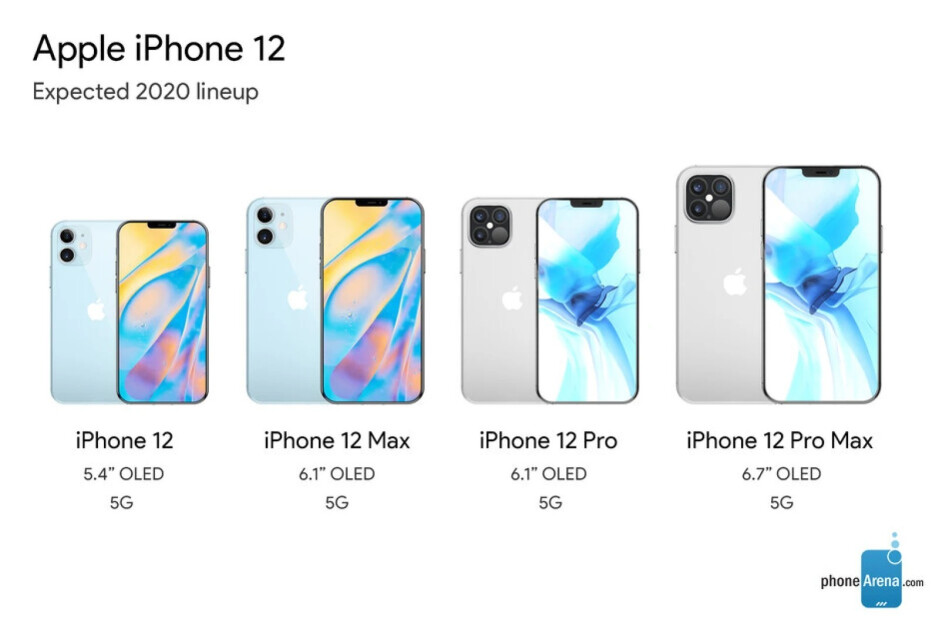 All iPhone 12 5G series models - The iPhone 12 display leaks out just as we learn more about its camera specs