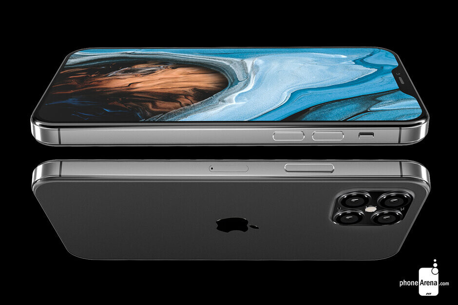 Apple iPhone 12 render shows the iPhone 4 flat-edge design that is returning with the new models - Apple iPhone assemblers Foxconn and Pegatron feel threatened by China-based manufacturer