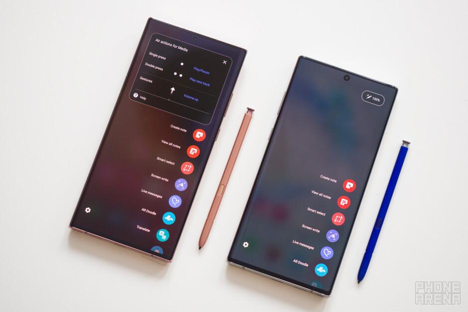 Samsung Galaxy Note 20 Ultra vs Galaxy Note 10+