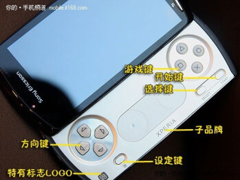 Sony Ericsson PlayStation Phone videotaped with its game on