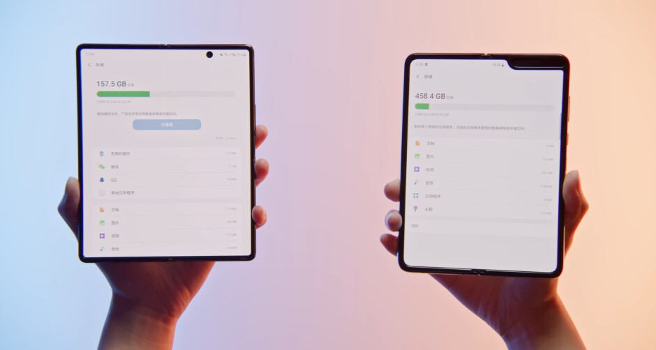 Galaxy Z Fold 2 on the left, Galaxy Fold on the right - Early review of the Galaxy Z Fold 2 leaves nothing hidden, gives most detailed look of the phone yet