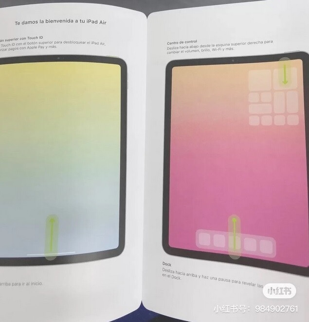 Pamphlet allegedly shows the thinner bezels on the rumored fourth-generation Apple iPad Air - Leaked illustrations could show off the design of the next Apple iPad Air
