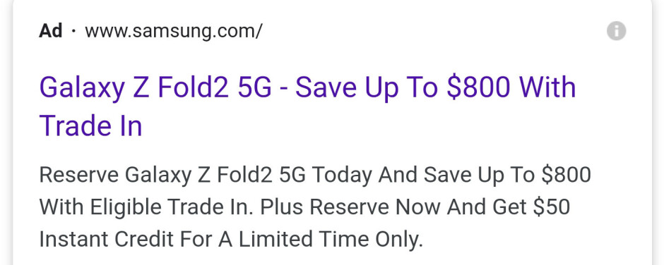Up to $800 Z Fold 2 trade-in, to start from $1199, you do the math - The Samsung Galaxy Z Fold 2 may be priced at 'just' $1999 in the US, check out a video hands-on