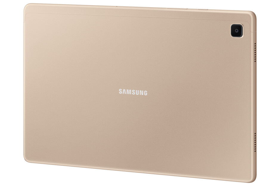 Gold - Samsung Galaxy Tab A7 — quad speakers, modern look, affordable price