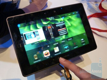 Visually, the BlackBerry PlayBook is neither overly impressive or dismal
