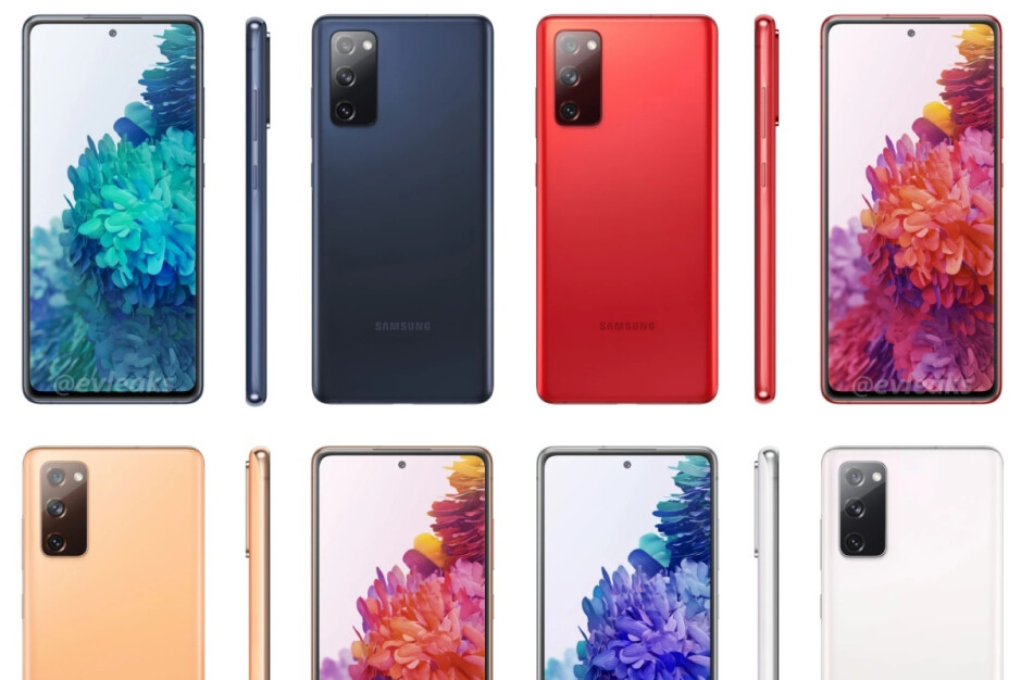 Full slate of leaked Galaxy S20 FE colors - Samsung jumps the gun, showcasing the official Galaxy S20 FE 5G design
